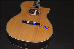 free shipping satin finish natural single cut acoustic guitar GPCPA4 solid guitar
