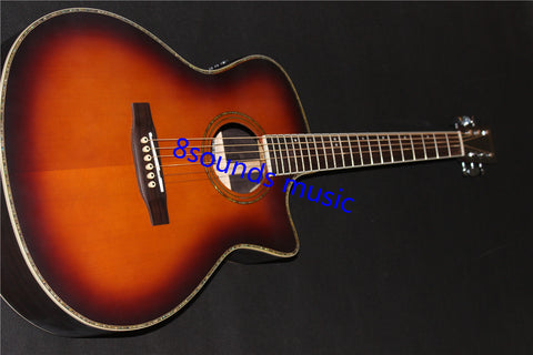 free shipping GPCPA4 acoustic guitar sunburst color solid satin guitars