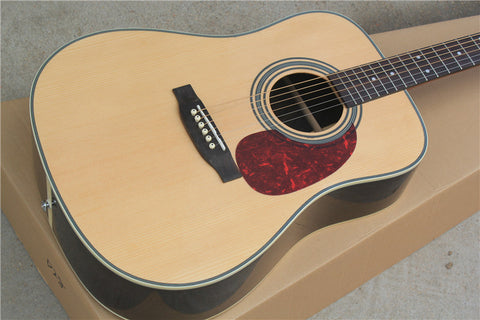free shipping popular China Guitar Wholesale solid top D28 natural color top quality  Acoustic electric Guitar/Guitarra