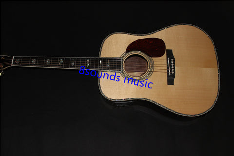 free shipping  Custom Top Quality, D45s Byron D45 Classical Acoustic Guitar with Fishman EQ, AAA Solid Spruce Top,Ebony fretboad