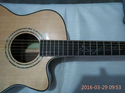 free shipping cutaway lakewood solid acoustic guitar natural guitar best quality guitars