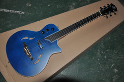 free shipping custom guitar hollow body electric guitar musical instrument shop satin flame maple T5 blues ebony guitar