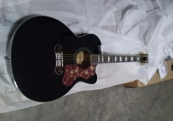 free shipping Acoustic Guitar j200 style black guitar cutaway Jumbo 43'' acoustic electric guitars