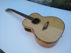 free shipping AAA quality new custom Byron guitar OM body sanders wood solid acoustic electric guitar