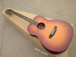 free shipping AAA quality new custom Byron guitar OM satin finishing acoustic electric guitar