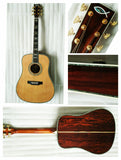 free shipping AAAA all solid custom cocobolo wood dreadnought body D style acoustic electric guitar