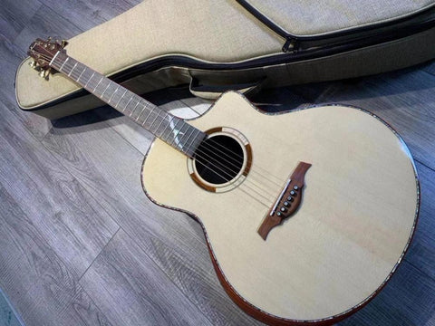 free shipping AAAA all solid wood guitar custom guitar JF body cutaway new handmade acoustic guitar