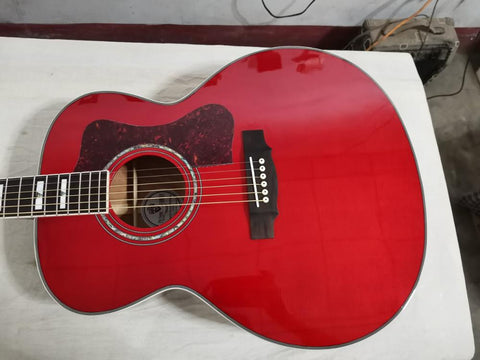 free shipping professional solid acoustic guitar Jumbo F50 VINTAGE style red guitar guild acoustic electric guitar