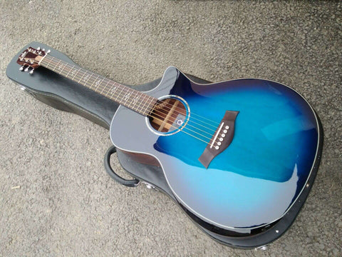 free shipping promotion guitar Grand Auditorium body style acoustic electric cutaway blues guitar on sale
