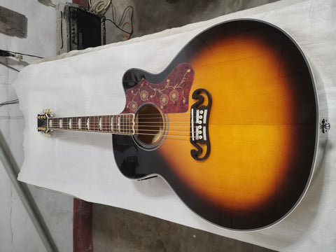 free shipping Chibson J200 single cut acoustic guitar SJ200 VS electric acoustic single cutaway Acoustic jumbo guitars