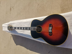 free shipping handmade SJ200 style Byron All solid wood customize Jumbo vintage acoustic guitar