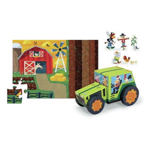 24 pc Puzzle & Play Set - Farm - Everbloom Kids