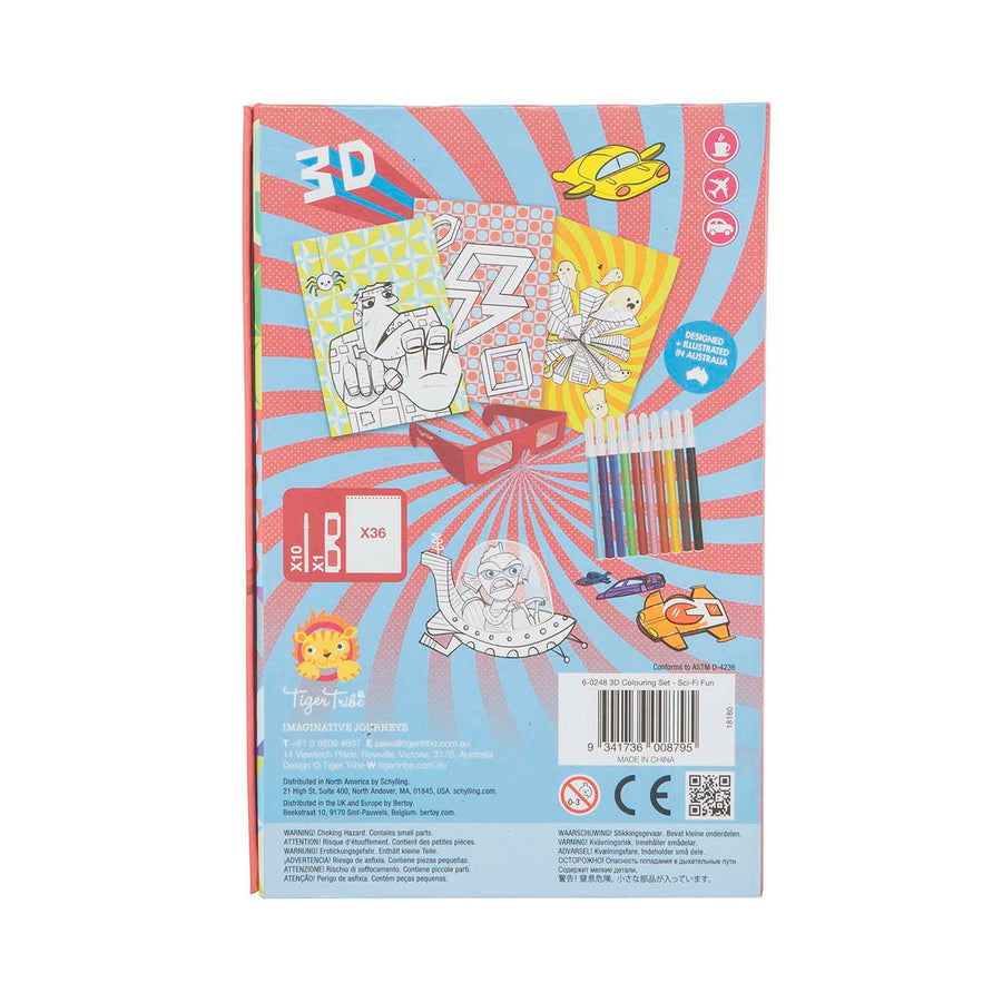 3D Colouring Set - Sci Fi Fun - Everbloom Kids