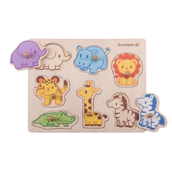 Safari Peg Puzzle - Everbloom Kids