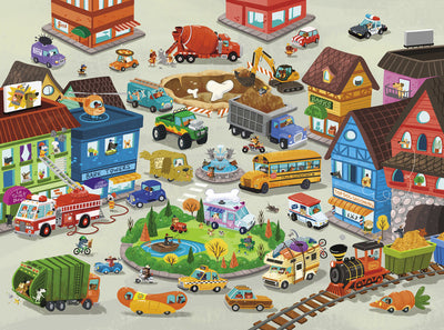 50 piece Floor Puzzle - Busy City - Everbloom Kids
