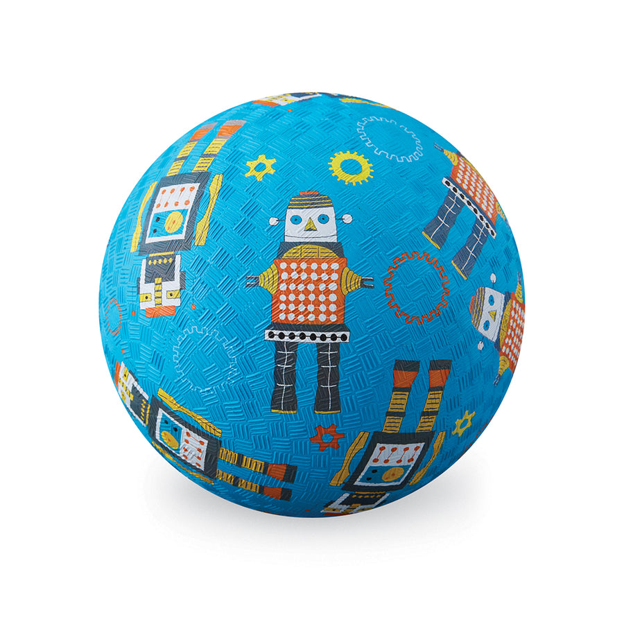 "7"" Playground Ball - Robots - Everbloom Kids"