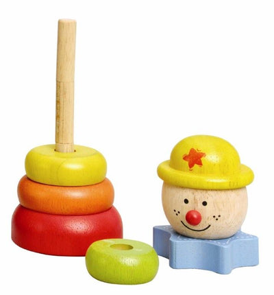 Stacking Clown - Yellow Hat - Everbloom Kids
