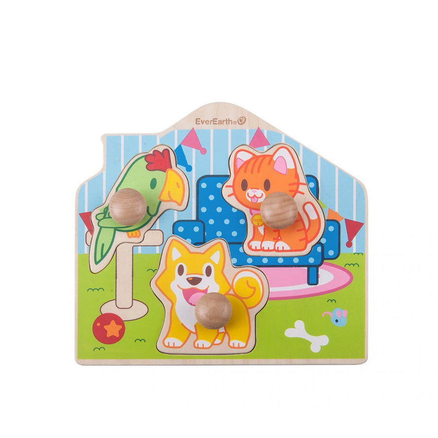 Wooden Pet Peg Puzzle - Everbloom Kids