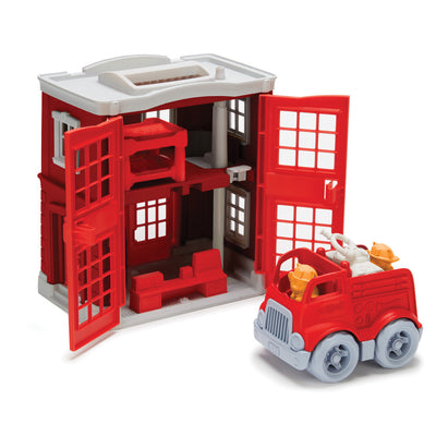 Fire Station Playset - Everbloom Kids