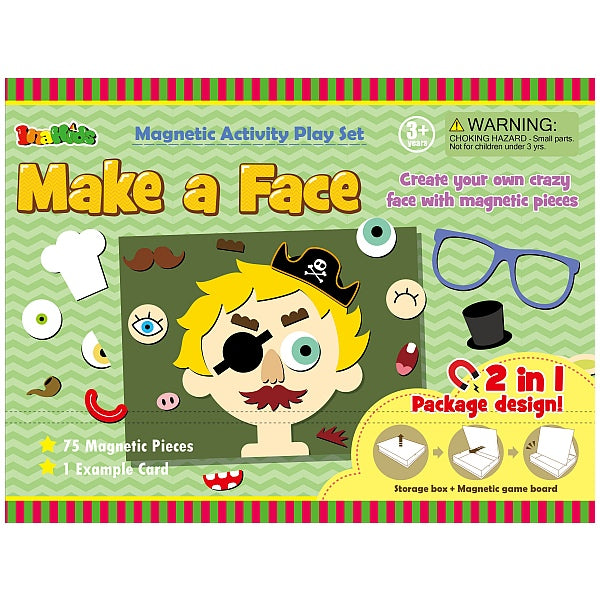 Make a Face Magnetic Educational Activity Set - Everbloom Kids