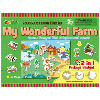 My Wonderful Farm Magnetic Educational Activity Set - Everbloom Kids