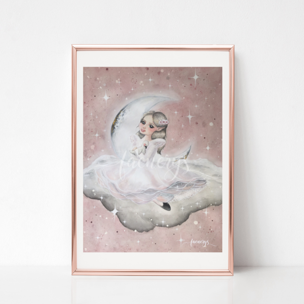Among the Stars Art Print - Emmé - Everbloom Kids