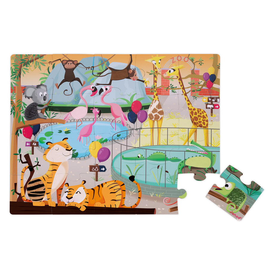 Tactile Puzzle – Zoo - Everbloom Kids