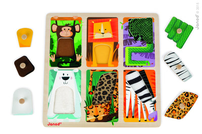 Tactile Peg Puzzle – Zoo - Everbloom Kids