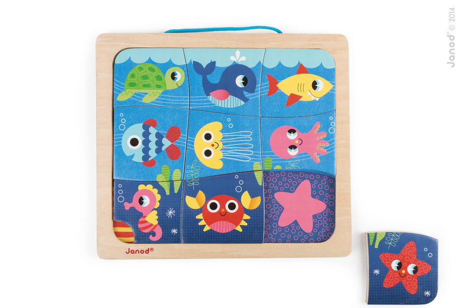 Happy Fish Magnetic Puzzle - Everbloom Kids