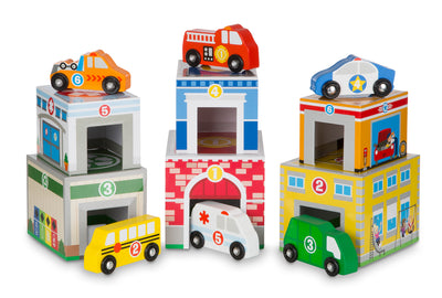 Nesting & Sorting Buildings & Vehicles - Everbloom Kids