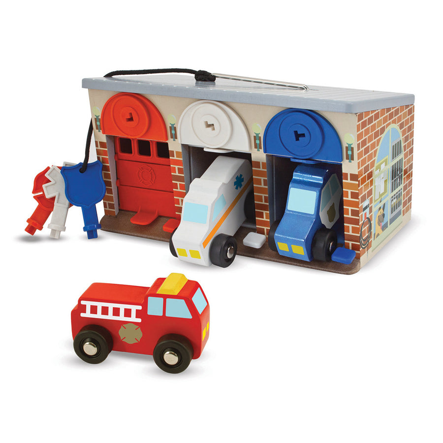 Lock & Roll Rescue Truck Garage - Everbloom Kids