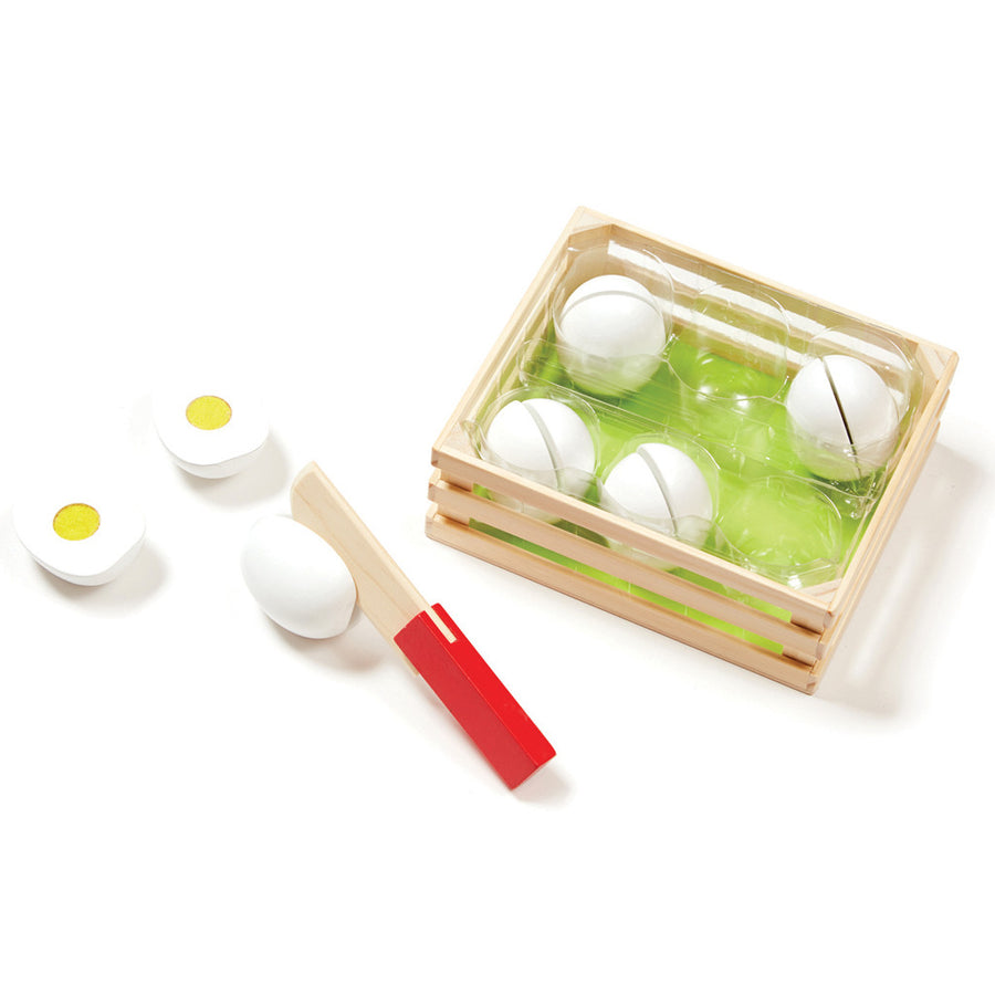 Slice & Sort Wooden Eggs - Everbloom Kids