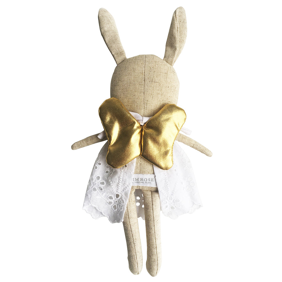 Linen Baby Angel Bunny Gold 24cm + - Everbloom Kids