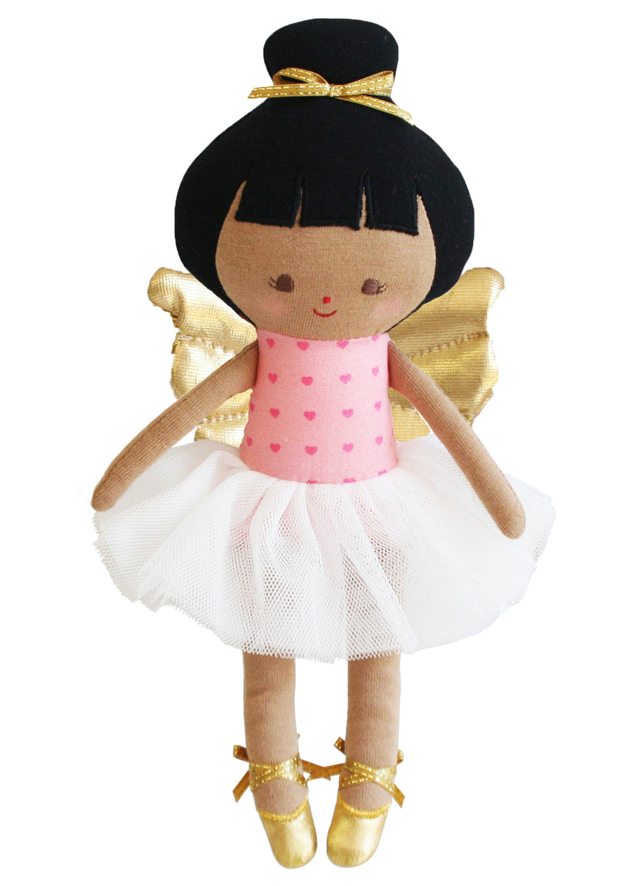 Evie Baby Christmas Fairy Dark Pink Gold - 25cm - Everbloom Kids