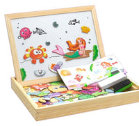 3-in-1 Magnetic Drawing Board (with 100Pcs Toy Magnets)