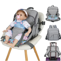 All-in-1 Maternity Diaper Bag with In-Built Baby Seat
