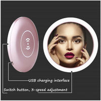 2-in-1 LED Mirror & Wireless Charging