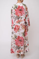 Mia Silk Floral Dress - Orient 499