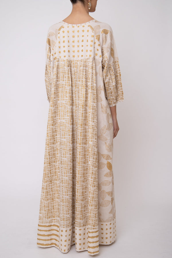 Rania Gold Foil Dress
