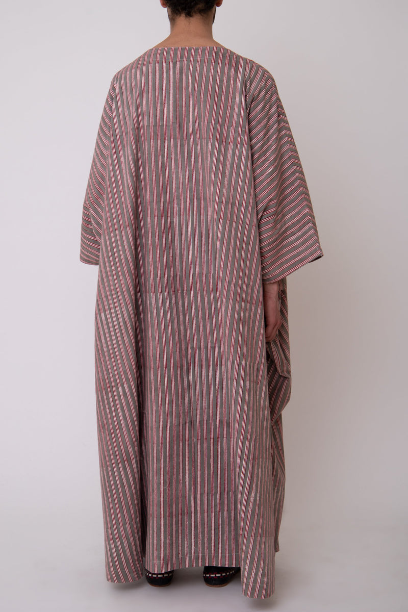 Fahed Striped Cotton Jellaba