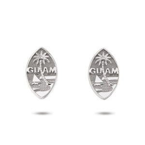 Solid Silver Guam Seal Earrings | Filled