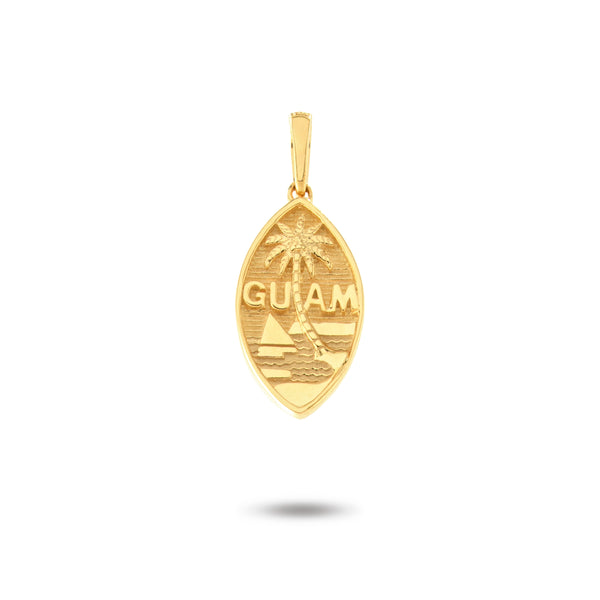 14K Yellow Gold Filled Guam Seal Pendant