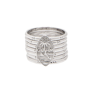 Silver 7-Day Bamboo Guam Seal Ring | 7-Day Ring