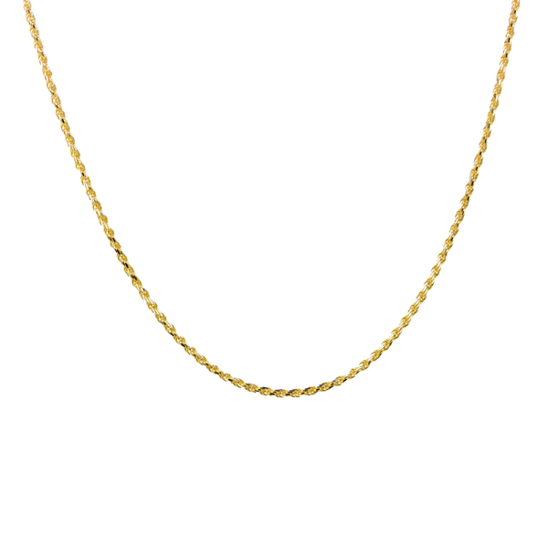 14K Yellow Gold Rope Chain | CH585-8,9,10 | Solid 14K