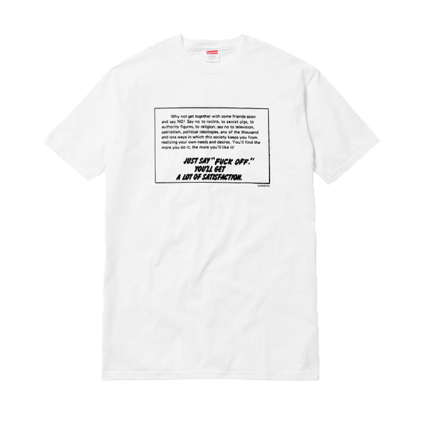 Supreme Say No Tee