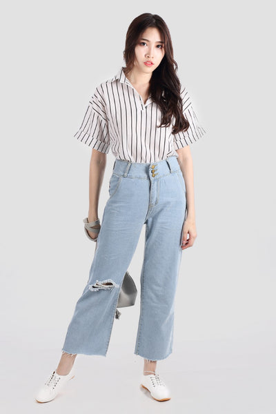 LEILA JEANS LIGHT BLUE