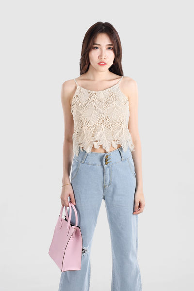 ALTHEA LEAF LACE TOP