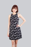 SHELA PRINT DRESS BLACK
