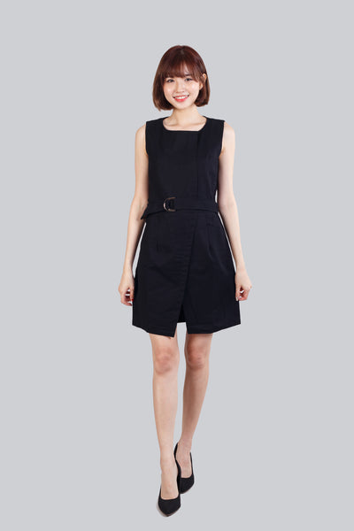 VIOLA SHIRT DRESS BLACK