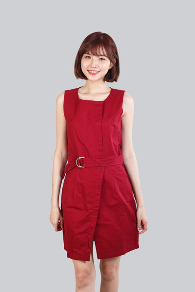 VIOLA SHIRT DRESS RED